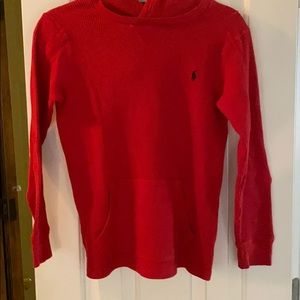 Ralph Lauren red thermal hoodie